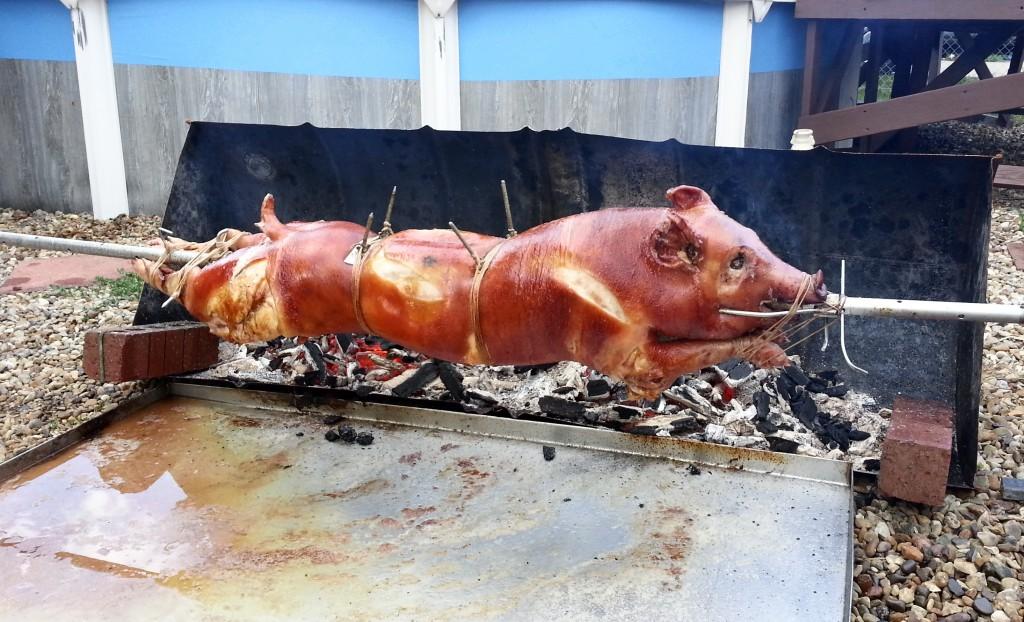 Świnia na ruszt